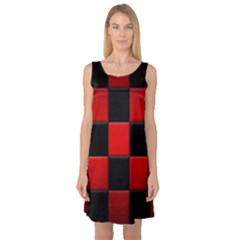 Black And Red Backgrounds Sleeveless Satin Nightdress