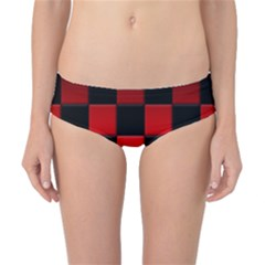 Black And Red Backgrounds Classic Bikini Bottoms