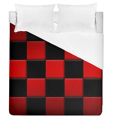 Black And Red Backgrounds Duvet Cover (queen Size)