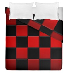 Black And Red Backgrounds Duvet Cover Double Side (queen Size)
