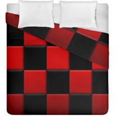 Black And Red Backgrounds Duvet Cover Double Side (king Size)