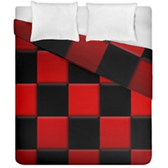 Black And Red Backgrounds Duvet Cover Double Side (california King Size)