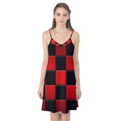 Black And Red Backgrounds Camis Nightgown