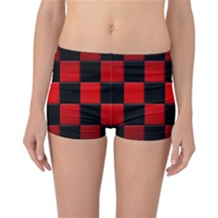 Black And Red Backgrounds Reversible Bikini Bottoms