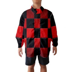 Black And Red Backgrounds Wind Breaker (kids)