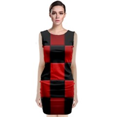 Black And Red Backgrounds Classic Sleeveless Midi Dress