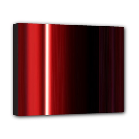 Black And Red Canvas 10  X 8