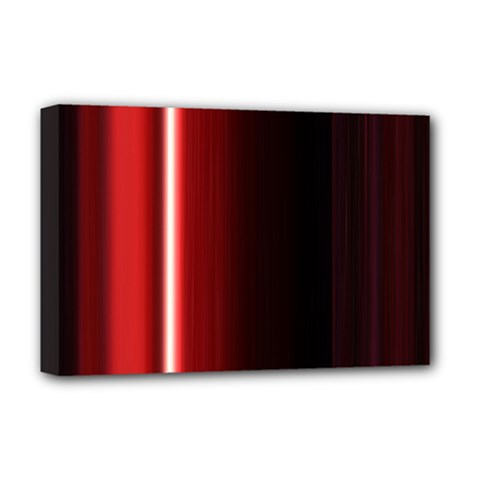 Black And Red Deluxe Canvas 18  X 12