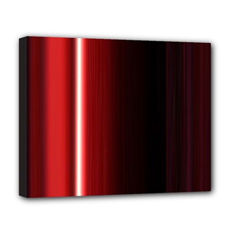 Black And Red Deluxe Canvas 20  X 16