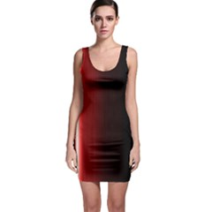 Black And Red Sleeveless Bodycon Dress