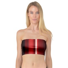 Black And Red Bandeau Top