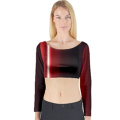 Black And Red Long Sleeve Crop Top