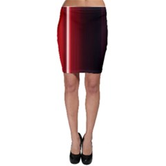 Black And Red Bodycon Skirt