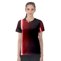 Black And Red Women s Sport Mesh Tee