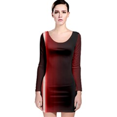 Black And Red Long Sleeve Bodycon Dress