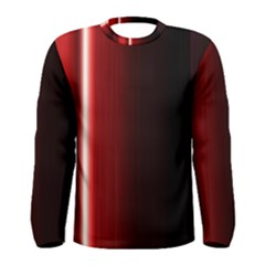 Black And Red Men s Long Sleeve Tee