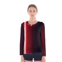 Black And Red Women s Long Sleeve Tee