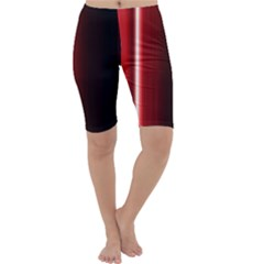 Black And Red Cropped Leggings