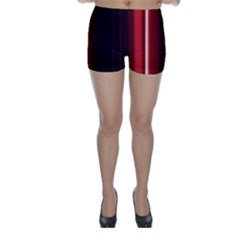 Black And Red Skinny Shorts