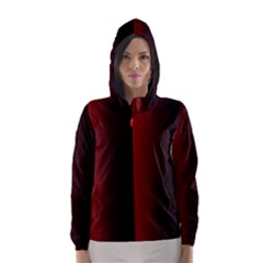 Black And Red Hooded Wind Breaker (women)