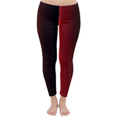 Black And Red Classic Winter Leggings