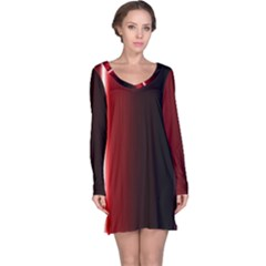 Black And Red Long Sleeve Nightdress