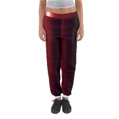 Black And Red Women s Jogger Sweatpants