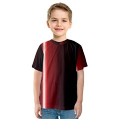 Black And Red Kids  Sport Mesh Tee