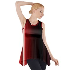 Black And Red Side Drop Tank Tunic