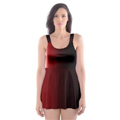 Black And Red Skater Dress Swimsuit