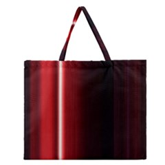 Black And Red Zipper Large Tote Bag