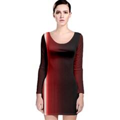 Black And Red Long Sleeve Velvet Bodycon Dress