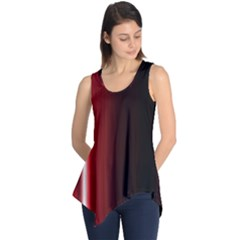 Black And Red Sleeveless Tunic