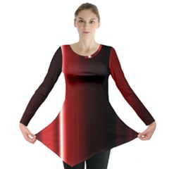 Black And Red Long Sleeve Tunic