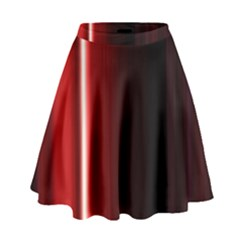 Black And Red High Waist Skirt