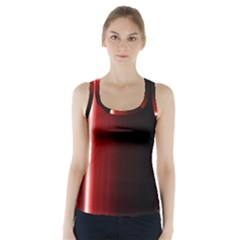 Black And Red Racer Back Sports Top