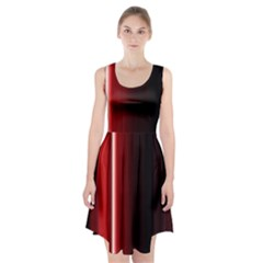 Black And Red Racerback Midi Dress