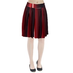 Black And Red Pleated Skirt