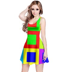 Colors Purple And Yellow Reversible Sleeveless Dress