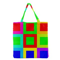 Colors Purple And Yellow Grocery Tote Bag