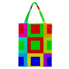 Colors Purple And Yellow Classic Tote Bag