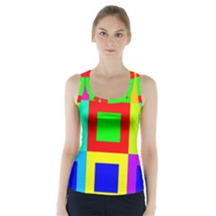 Colors Purple And Yellow Racer Back Sports Top