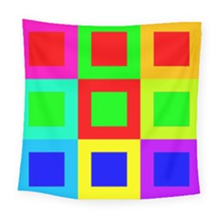Colors Purple And Yellow Square Tapestry (large)