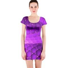 Circular Color Short Sleeve Bodycon Dress