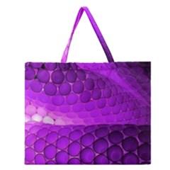 Circular Color Zipper Large Tote Bag