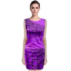 Circular Color Classic Sleeveless Midi Dress