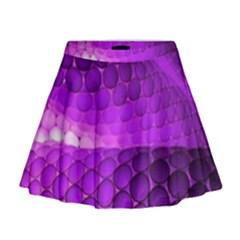 Circular Color Mini Flare Skirt