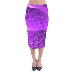 Circular Color Velvet Midi Pencil Skirt