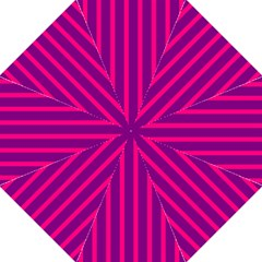 Deep Pink And Black Vertical Lines Straight Umbrellas