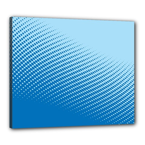 Blue Dot Pattern Canvas 24  X 20